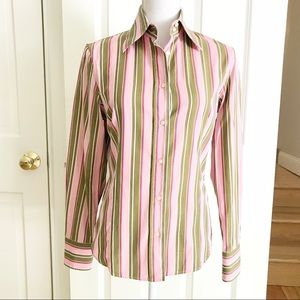 Women's Etro Fitted Button Down Shirt 42/6 Pink